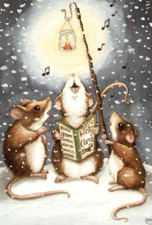 новогодняя открытка крыса любит принимать участие