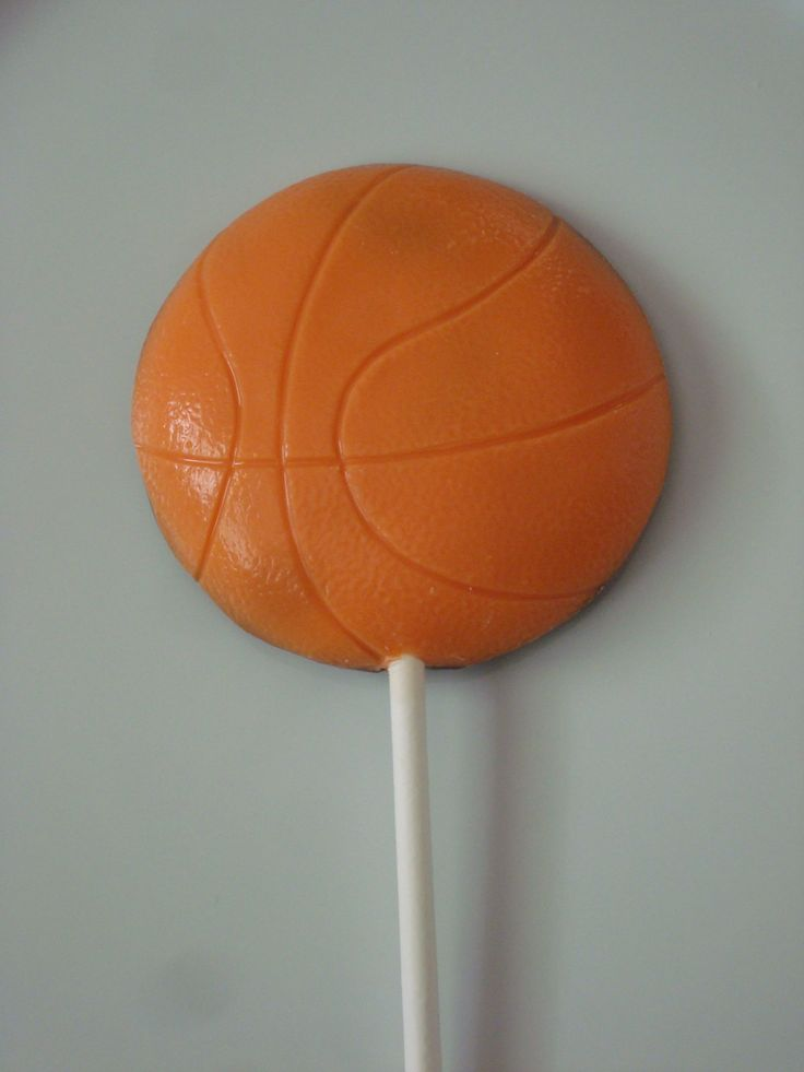 Milk Chocolate Basketball Lollipop Sports Birthday