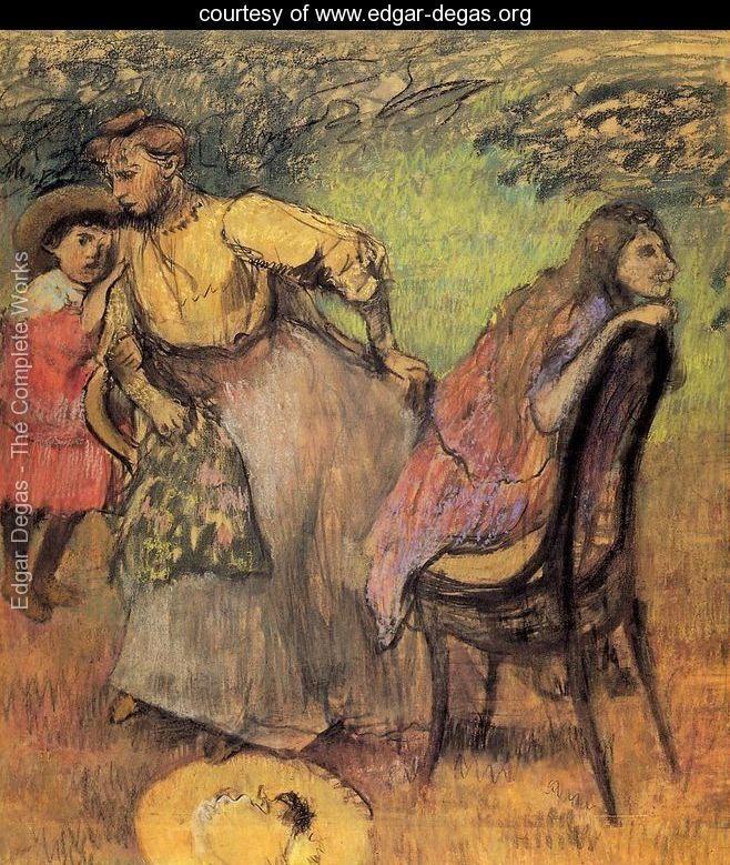 Madame Alexis Rouart and Her Children - Edgar Degas - www.edgar-degas.org