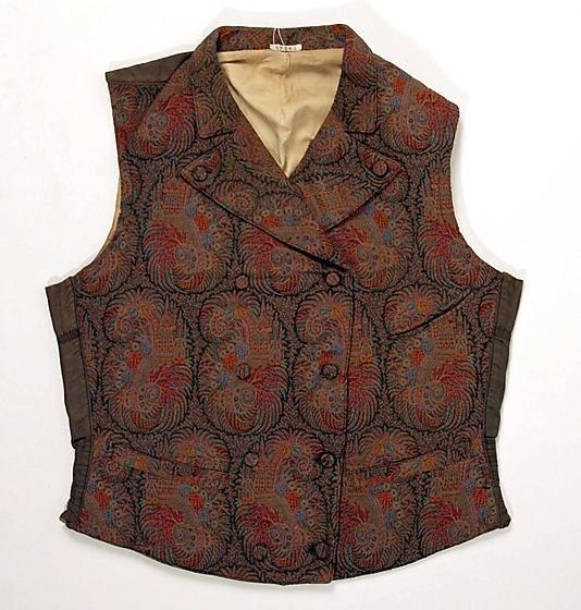 Gentleman's vest 1835-1855