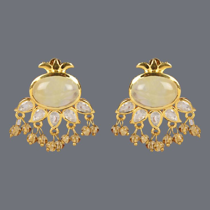 Featuring this Chalcedony Earring by Designer Deepa Sethi on Zarilane.com. Go, Grab yourself one Now!