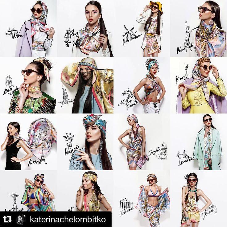 рады представить 20 стилей и 28 вариантов завязывания шелковых платков в рекламной компании @olga_dvoryanskaya (заказать шелковый платок в любом размере и цвете коллекции напишите нам в Direct) благодарим партнеров съемки Photographer @katerinachelombitko Location @binoklstudio Style @helena_sai_  @mgvision_ochechi @fashion_room_kiev @losk_atelier @lamare_swimwear Model @intermodelsma Make Up & hairstyle @embassy_of_beauty ・・・…