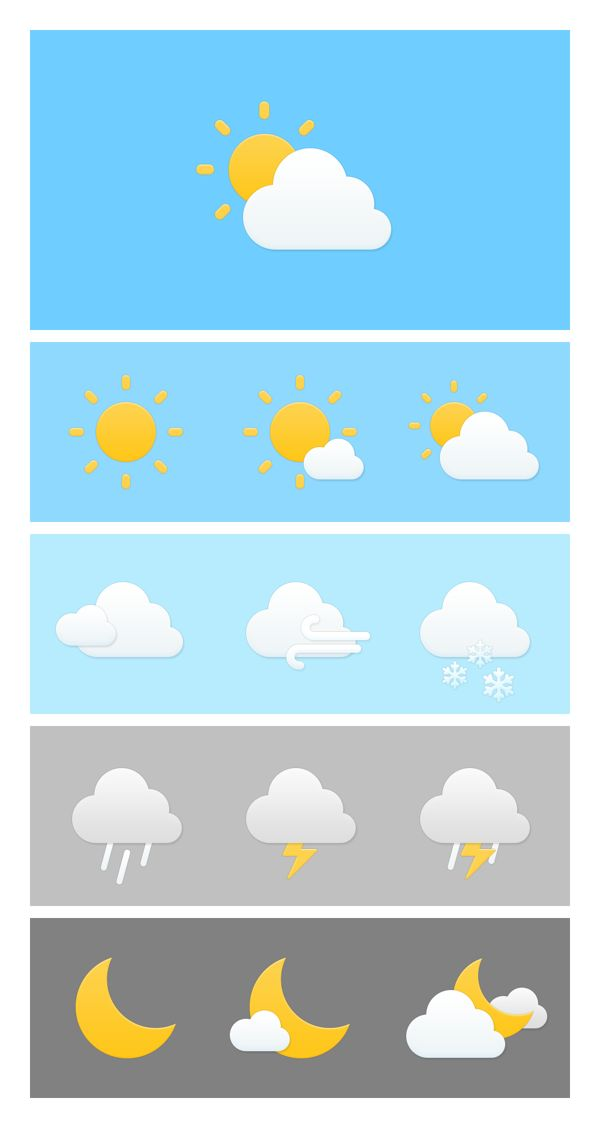 Weather on Behance