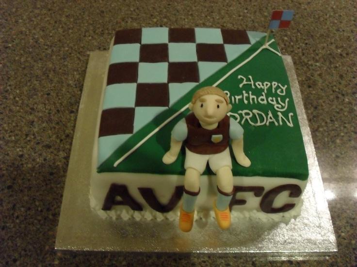 "10"" Sponge - Aston Villa cake with model"