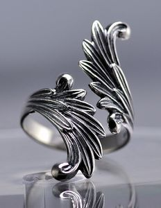 Final Fantasy VIII 8 Rinoa Guardian Forces Siren wings Ring Sterling silver .925 Jewelry