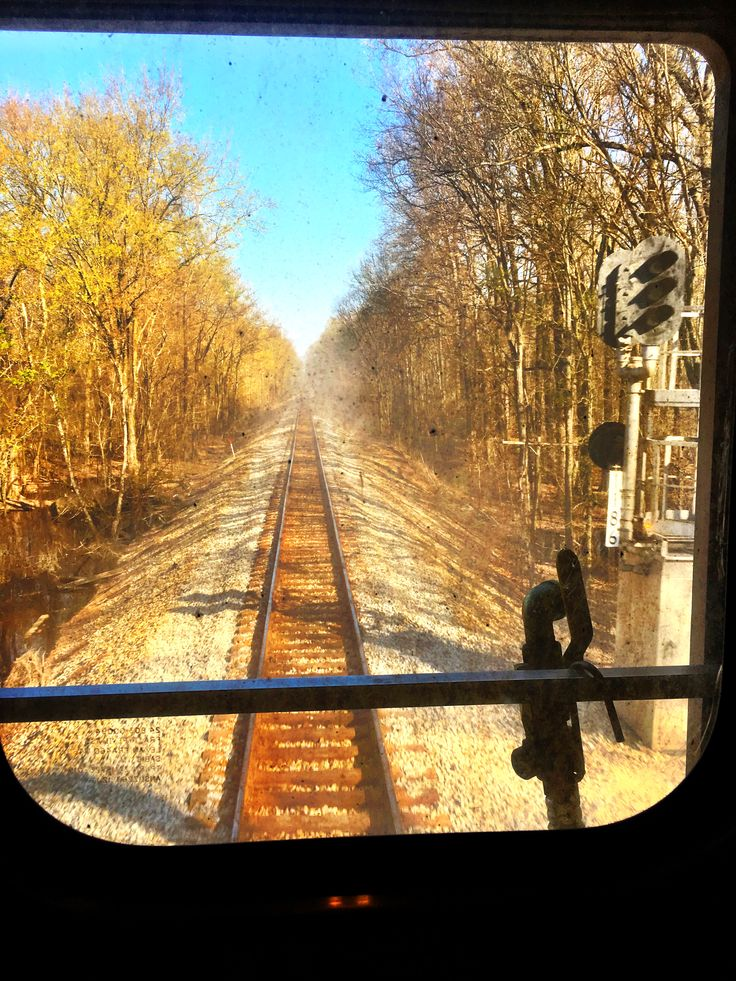 Out the back of the train