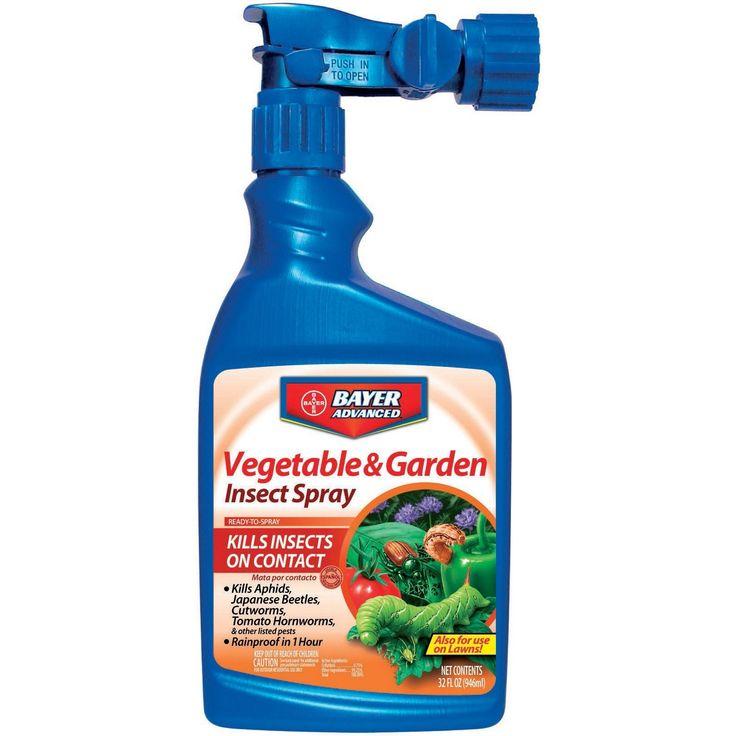 Bayer Advanced Vegetable and Garden Insect Spray Ready-To-Spray, 32-Ounce (32oz), Gardening