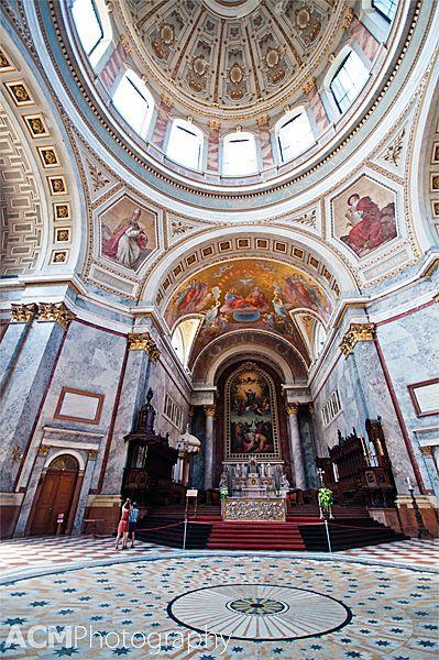 The grand dome of Esztergom Basilica in Hungary via CheeseWeb