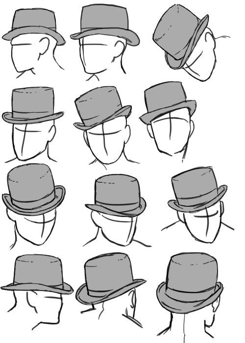 The Art Reference Blog | anatoref: Hats R 1 & 2 Row 3 Row 4: Left, Right R...