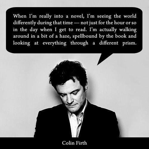 Colin Firth #reading #books