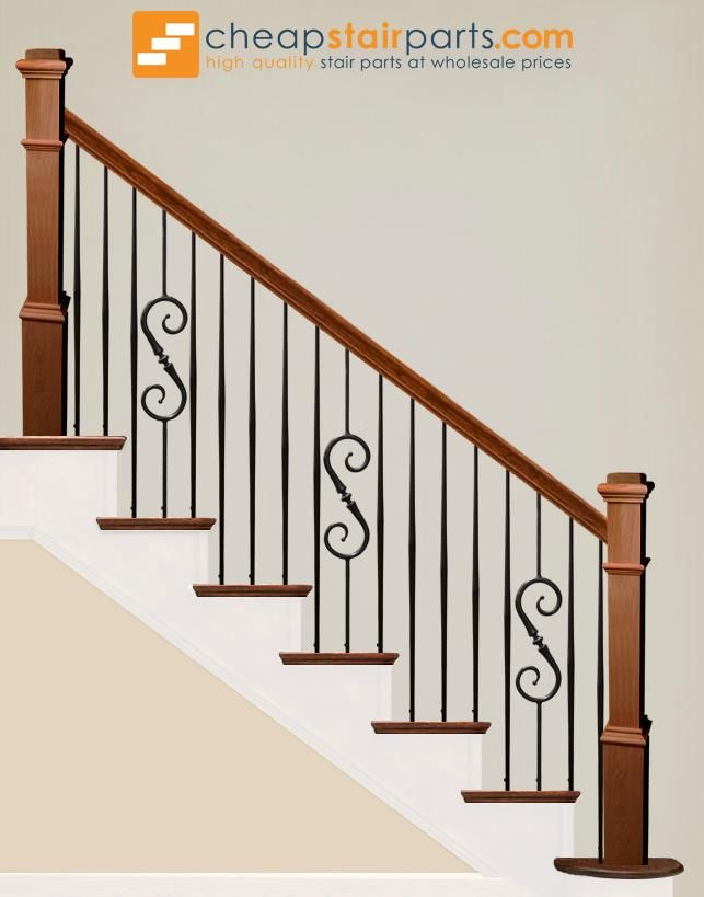 2 6 8 Plain Tapered Bar Iron Baluster With Images Stairs