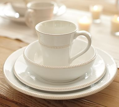 Gabriella Dinnerware (love *string of pearls* stoneware...it's Victorian and farmhouse all at the same time!)