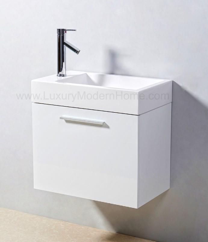 Alexius 24 X 14 Narrow White Vanity Sink Tinybathrooms