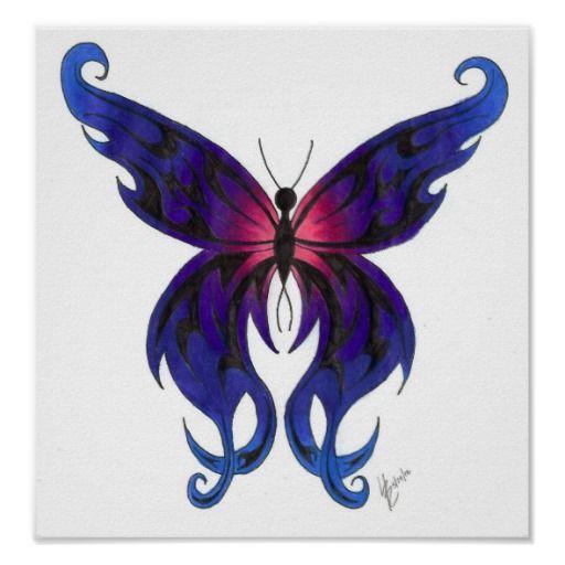 Dibujos de mariposa a lapiz - Imagui