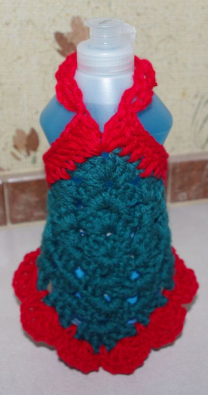 Granny Square Dish Soap Dress Free Crochet Pattern