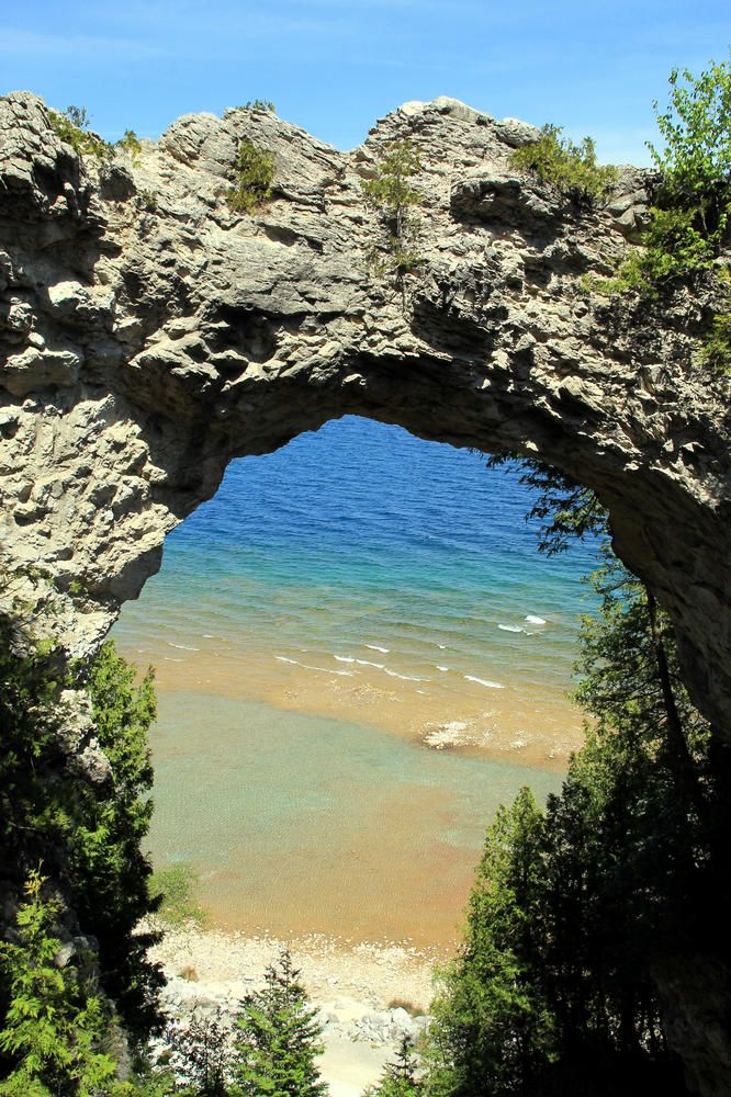 Arch Rock on Mackinac Island - upper view