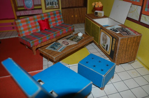 1962 Barbie Dream House Vintage Cardboard Dollhouse W: 113 Best Barbie Structures/furniture Images On Pinterest