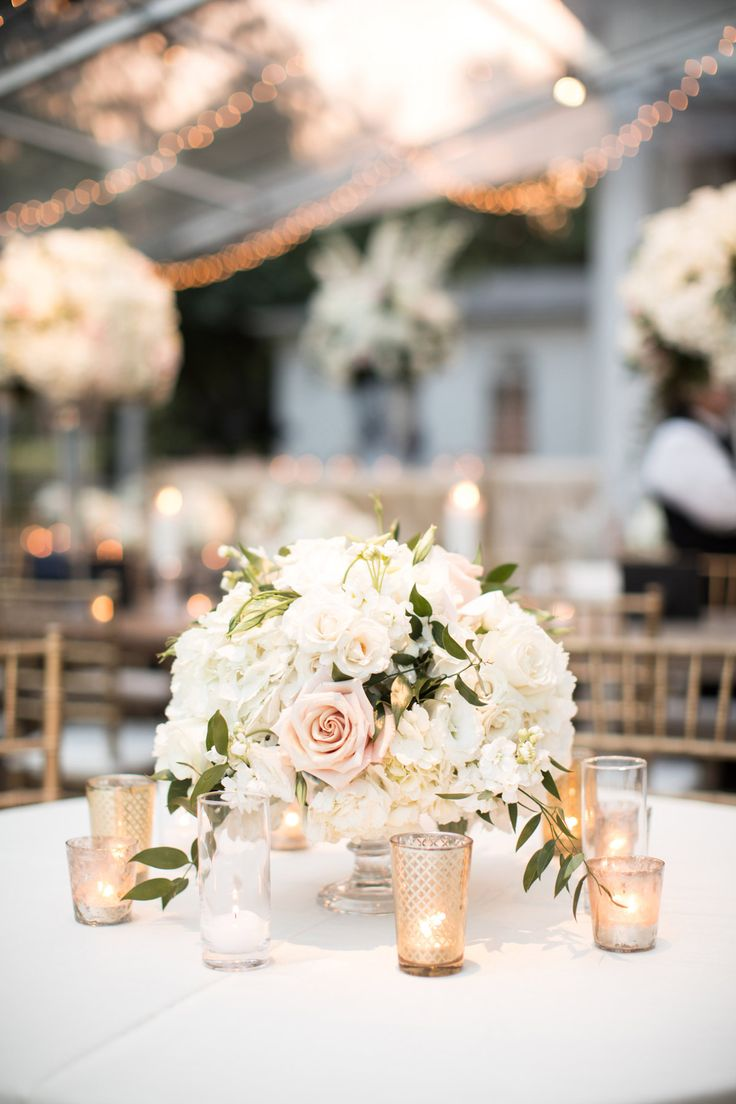 nice & tight arrangements by Bella Flora #dweddings #tablescapes