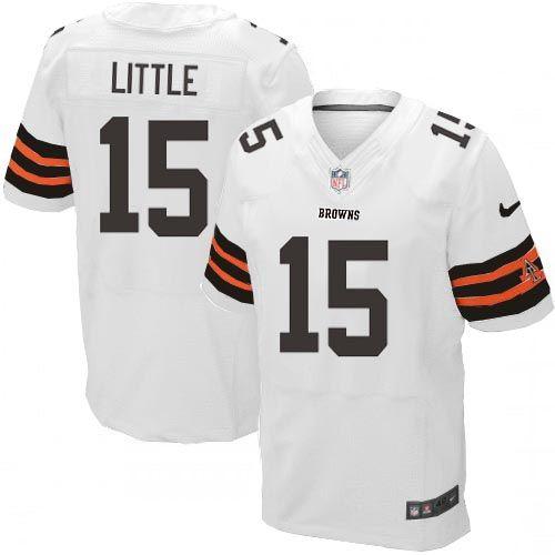 Men Nike Cleveland Browns #15 Greg Little Elite White NFL Jersey Sale