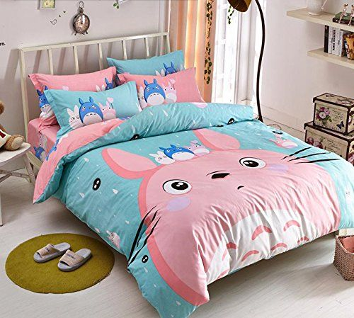 MeMoreCool New Arrival!Japanese Anime My Neighbor Totoro Cartoon 4 Pieces Bedding Set 100& Cotton Pink Totoro Duvet Cover Set Cute Kids Bedding Set Anime Bed Sheets MeMoreCool http://www.amazon.co.uk/dp/B00VD35JBI/ref=cm_sw_r_pi_dp_wOqRvb0KKN9FR