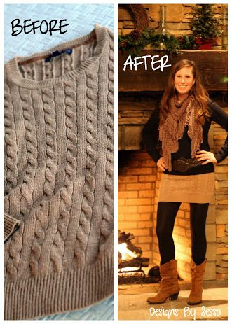 DIY Sweater Mini Skirt--this girl has seriously good diys. I would make mine a little longer, but why didn't I think of this!