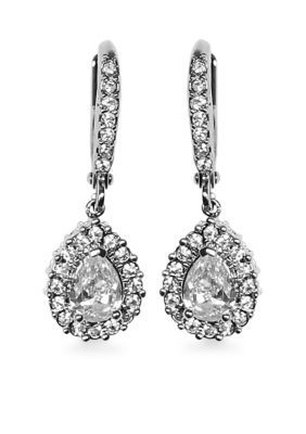 Givenchy  Pear Drop Crystal Drop Earrings - Imitation Rhodium - One Size