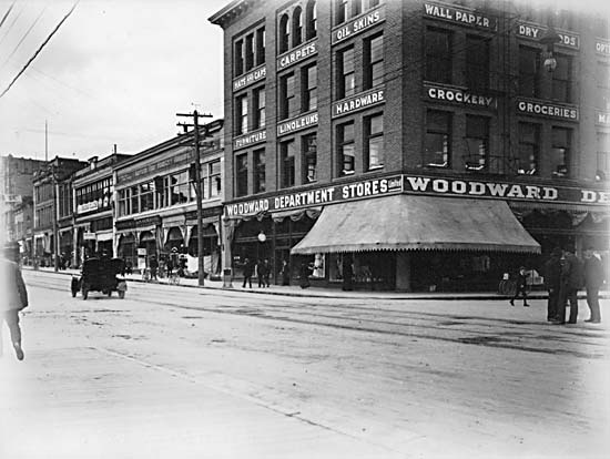 woodwards department store, east hastings vancouver