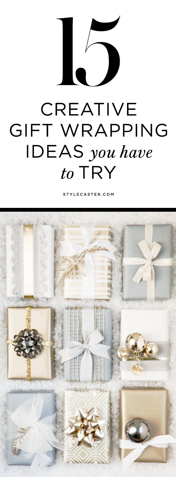 DIY Gift Wrapping Ideas for Christmas (and Beyond) | Up your gift wrapping game this Holiday season with 15 unique and creative ideas that will impress your friends and family.