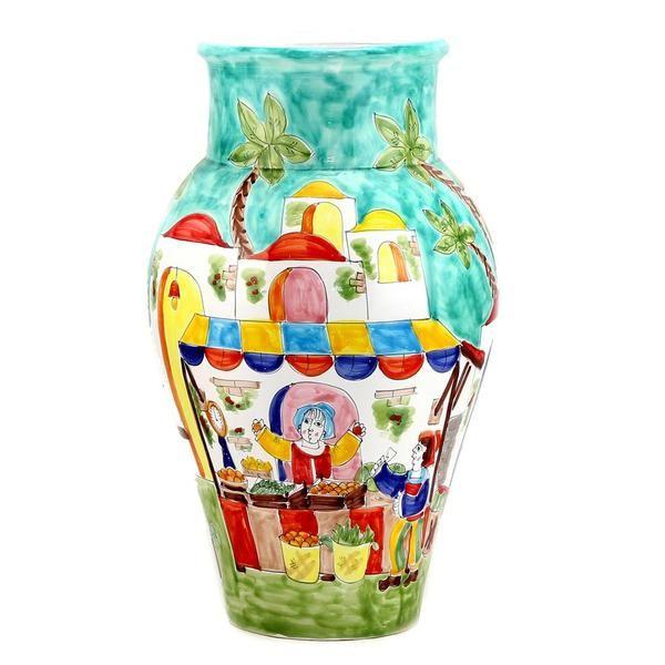LA MUSA: Large Vase Mercato Sicilian Farmer Market