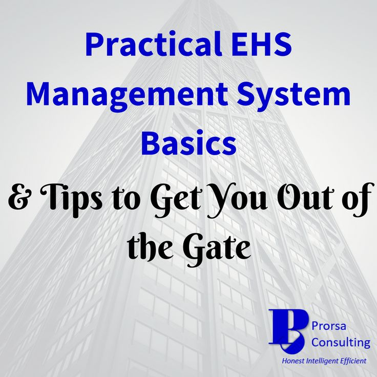 EHS Management can get overwhelming quickly.  With all the environmental and safety compliance activities, there's hardly room to address taking EHS to the next level.  That's where an EHS Management System can help.  Wouldn't you rather have a systematic approach to help you get to the next level rather than leaving it to chance?  Check out this article to start the evaluation process on whether an EHS Management System may be a solution for your organization.