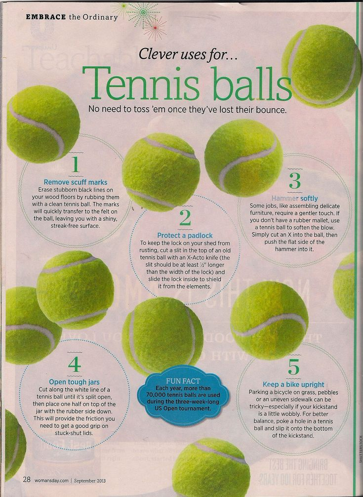Clever Uses for Tennis Balls...