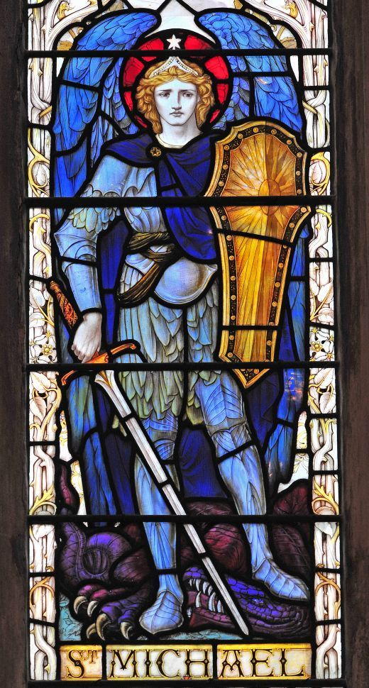 Rescue me from all evil and lead me on the path of peace and broiled.  St. Michael enlighten me.  St. Michael protect me.  St. Michael, defend me.  Amen.