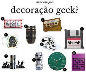 onde comprar decoração geek? Decoração nerd, decoração divertida, decoração diferente para casa.