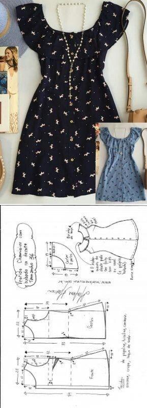 Molde De Vestido. ¡Extra Fácil! #Moda