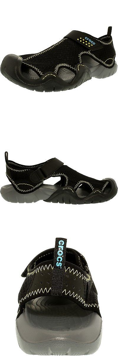 Sandals and Flip Flops 11504: Crocs Men S Swiftwater Sandal Ankle-High Rubber -> BUY IT NOW ONLY: $37.1 on eBay!