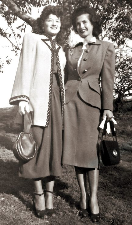 Fashionable women, 1940s.