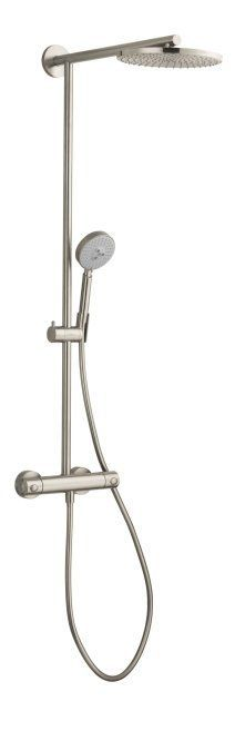 """View the Hansgrohe 27160 Raindance Showerpipe Shower System with 10"""" Rain Shower Head, Multi-Function Hand Shower, and 63"""" Hose at FaucetDirect.com. #ShowerHeads"""