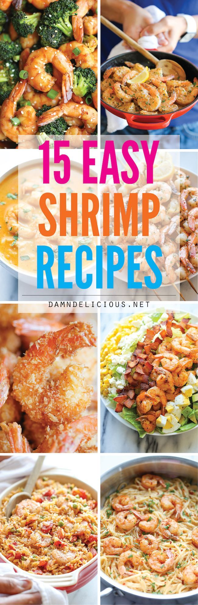 15 Easy Shrimp Recipes - Quick and easy shrimp recipes for any night of the week. Best of all, shrimp is high in protein and low in calories! http://samscutlerydepot.com/