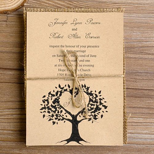 32 best layered wedding invitations images on pinterest response love tree burlap layered rustic wedding invites ewls013 solutioingenieria Image collections