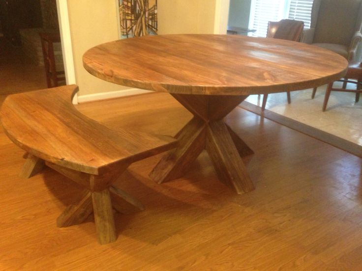 5 Ft Round Table With Bench For Sale 130000