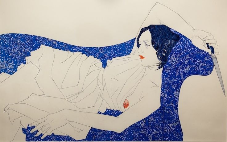 "HOPE GANGLOFF-""Salome"", 2009. Acrylic/canvas"