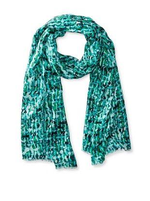 79% OFF Tahari Women's Tweed-esque Printed Scarf, Blue Multi