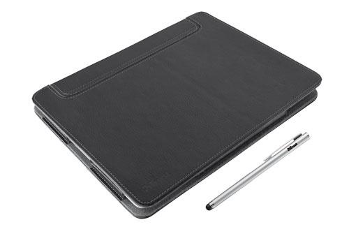 Trust.com - eLiga Elegant folio stand & stylus for iPad Mini - black