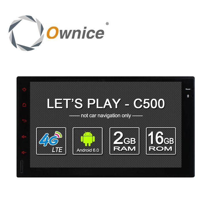 Ownice ''1024 c500 android 6.0 2g ram 7*600 dukungan 4g lte sim jaringan Mobil GPS 2 din Universal dengan mobil Radio player ada dvd
