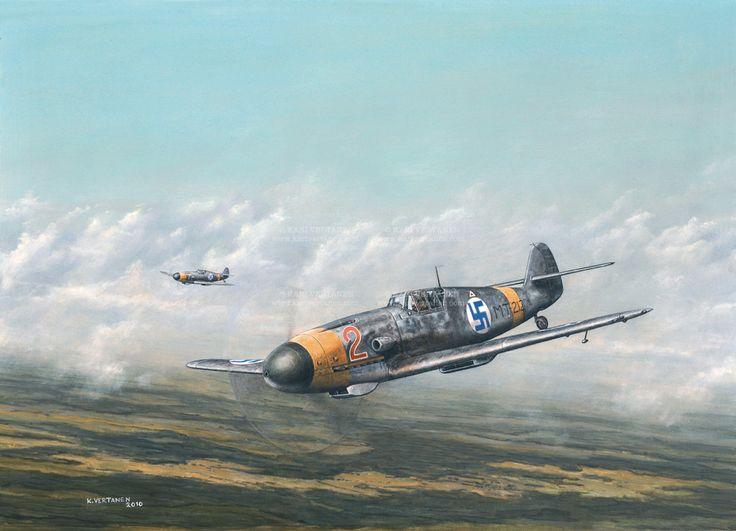 Messerschmitt Bf 109 G2 MT-212 Lentolaivue 34 #Messerschmitt #WWII #FinnishAirForce
