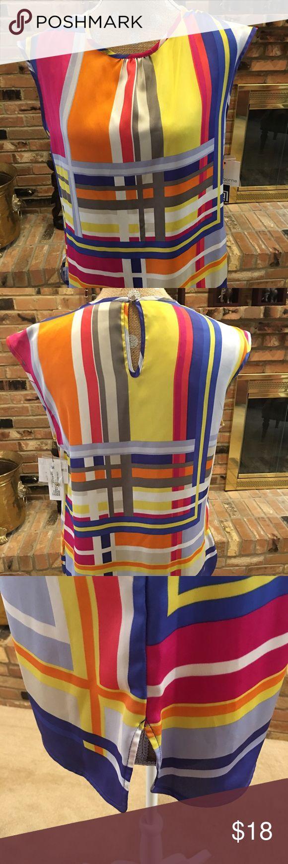 Liz Claiborne Vibrant color block top Like it now. Description coming. Liz Claiborne Tops