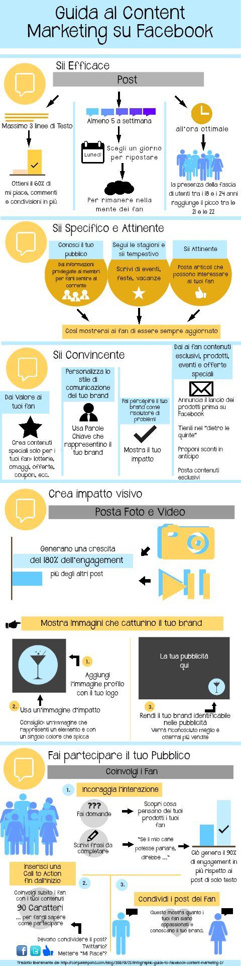 Come realizzare un #post su #facebook efficace che crei #engagement con i #fan della tua #pagina - #social #contentmarketing #blog #sitoweb #1minutesite