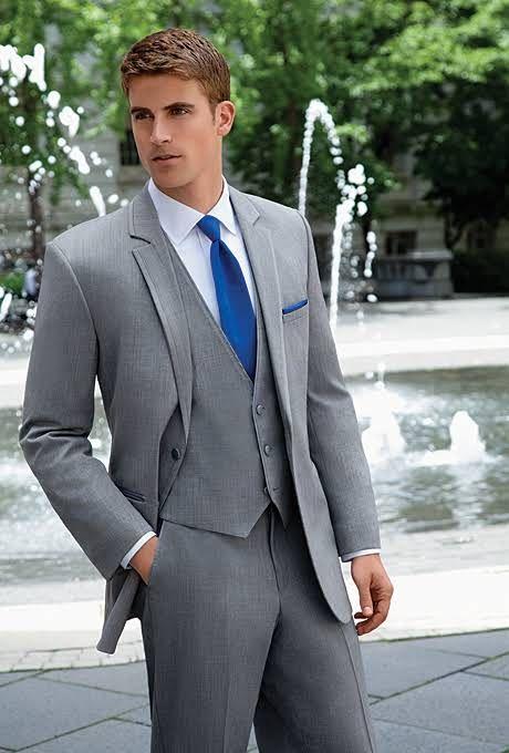 Grey Savoy Tuxedo Style 332  Jos A Bank  Style  Groom tuxedo wedding Tuxedo wedding