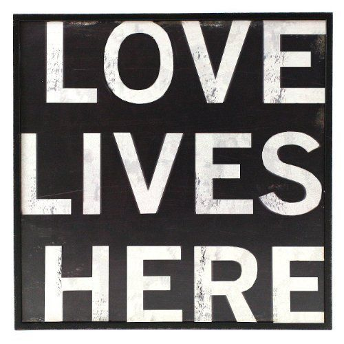 Fetco Home Decor Stefan Love Lives Here Wall Art by Fetco Home Décor, around $8.99