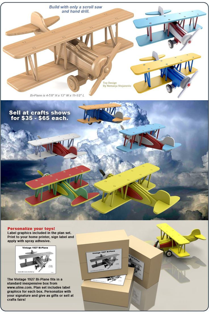 Wooden Toy Plane Plans - Downloadable Free Plans